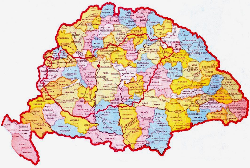 nagy magyarország térkép nyomtatható Trianon és a magyar zsidók | Szombat Online nagy magyarország térkép nyomtatható