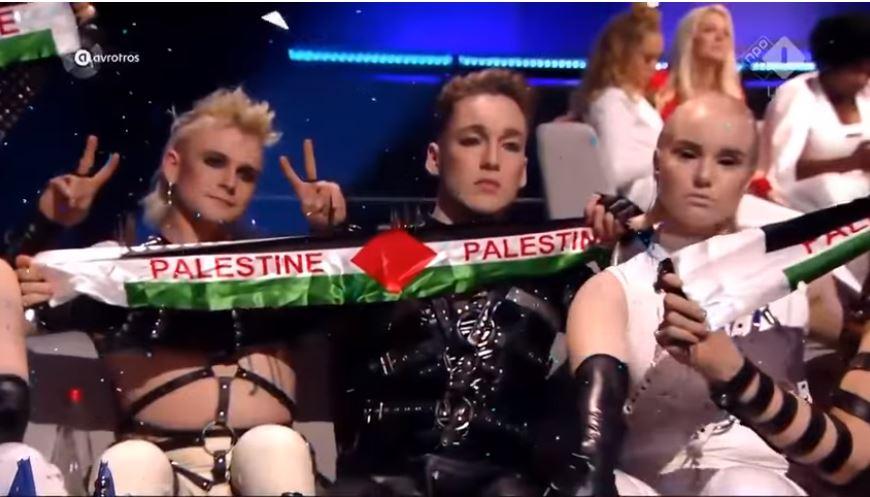Eurovíziós dalfesztivál: az izlandi csapat palesztin zászlót lengetett