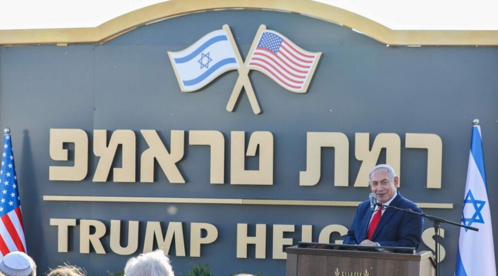 Netanjahu avatta fel az amerikai elnökről elnevezett izraeli terepülést a Golánon