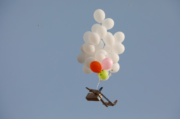 Palesztin léggömbös terror Gázából