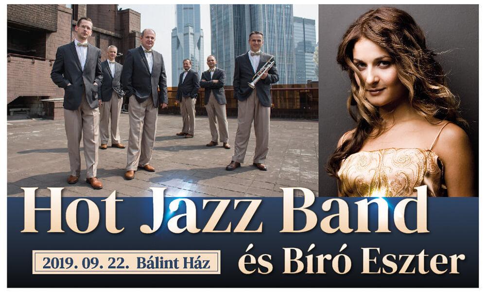 A Hot Jazz Band és Bíró Eszter közös koncertje a Bálint Házban