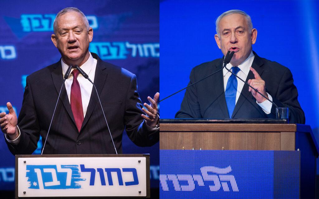 Patt? 33-33 mandátum a Likudnak és a Kék-fehérnek