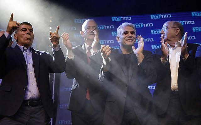 99.8%-os feldolgozottságnál 33:31 arányban a Kék-fehér vezet a Likuddal szemben