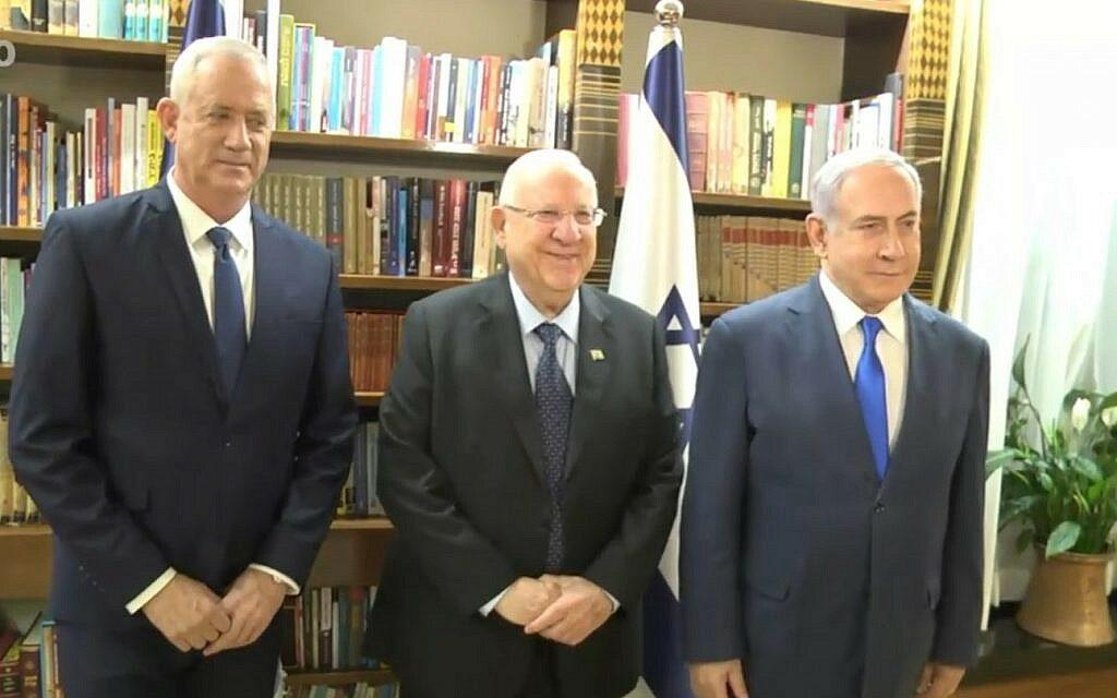 Az izraeli elnök egységkormányra hívta fel Gantz-ot és Netanjahut