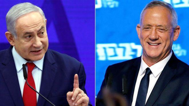 91%-os feldolgozottságnál, állítólag 32-32 mandátuma van a Likudnak és a Kék-fehérnek