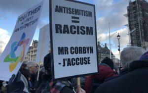 A munkáspárti antiszemitizmus ellen tüntettek Londonban