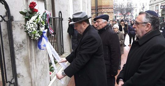 Megemlékezést tartottak a pesti gettó felszabadításának 75. évfordulója alkalmából