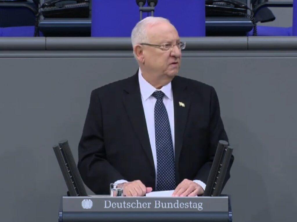 Rivlin a Bundestagban: Visszatérnek a múlt szellemei