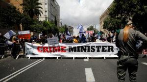 Tüntetés Netanjahu mellett és ellen