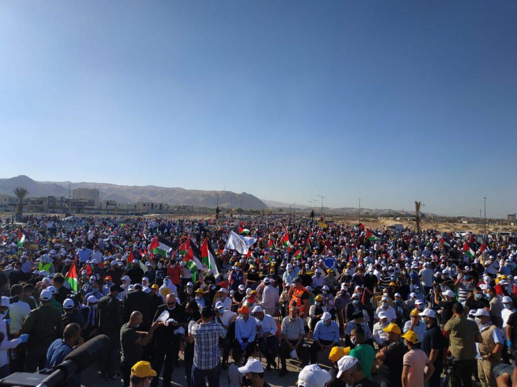 Palesztin tüntetés a tervezett izraeli annektálás ellen