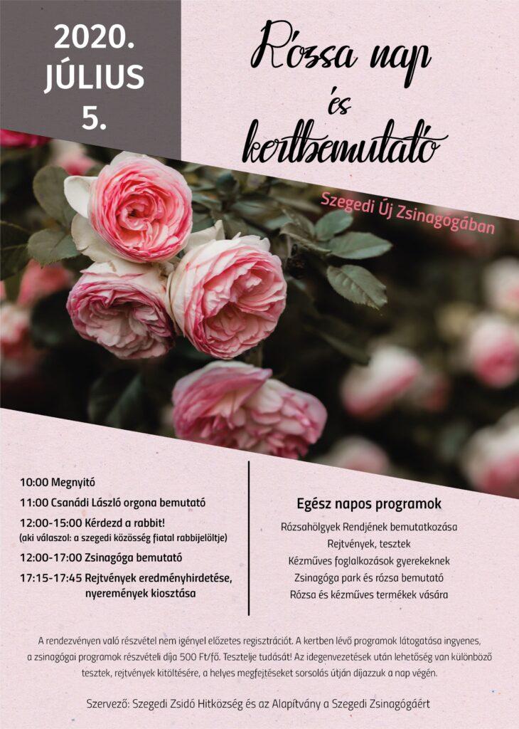 Rózsa nap és kertbemutató a Szegedi Új Zsinagógában