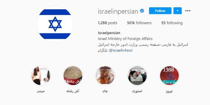 Félmillió követője van Izrael perzsa nyelvű Instagram oldalának