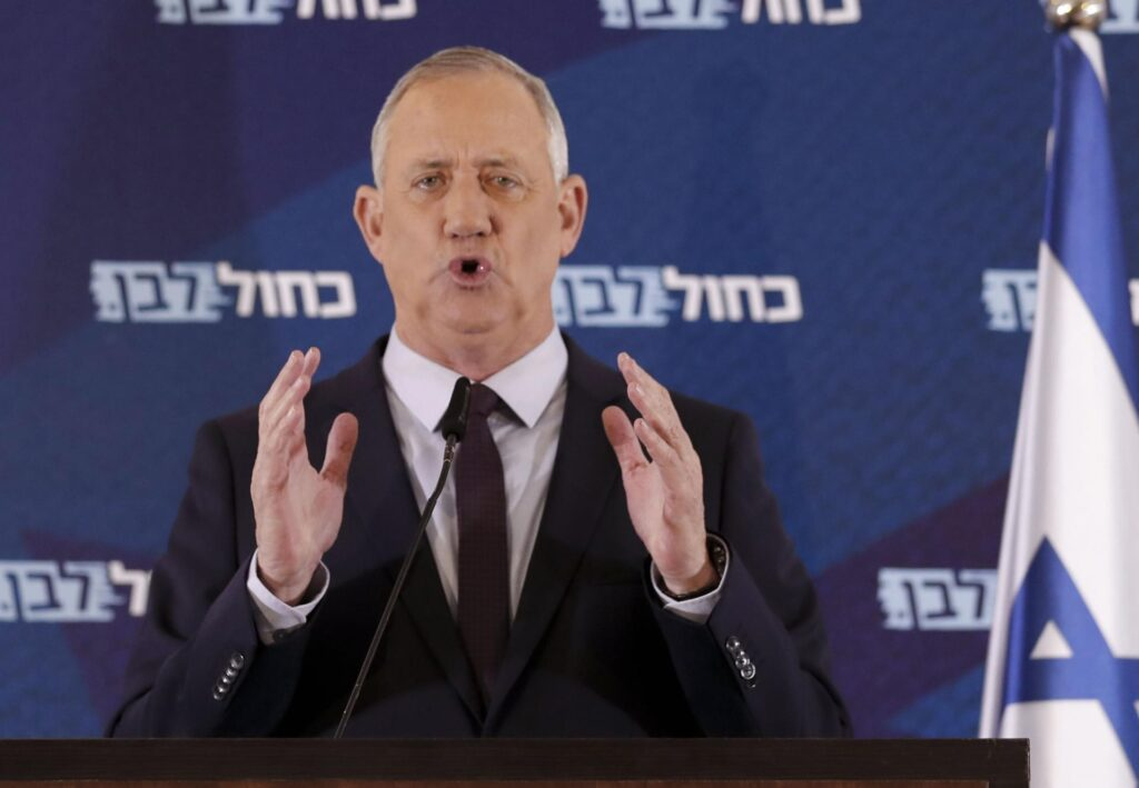 """Gantz: """"Megértem a Netanjahu iránti gyűlöletet és a bennem való csalódást"""""""