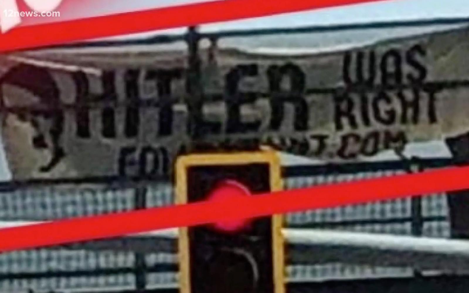 """Szabálysértési eljárás a """"Hitlernek igaza volt"""" feliratért"""