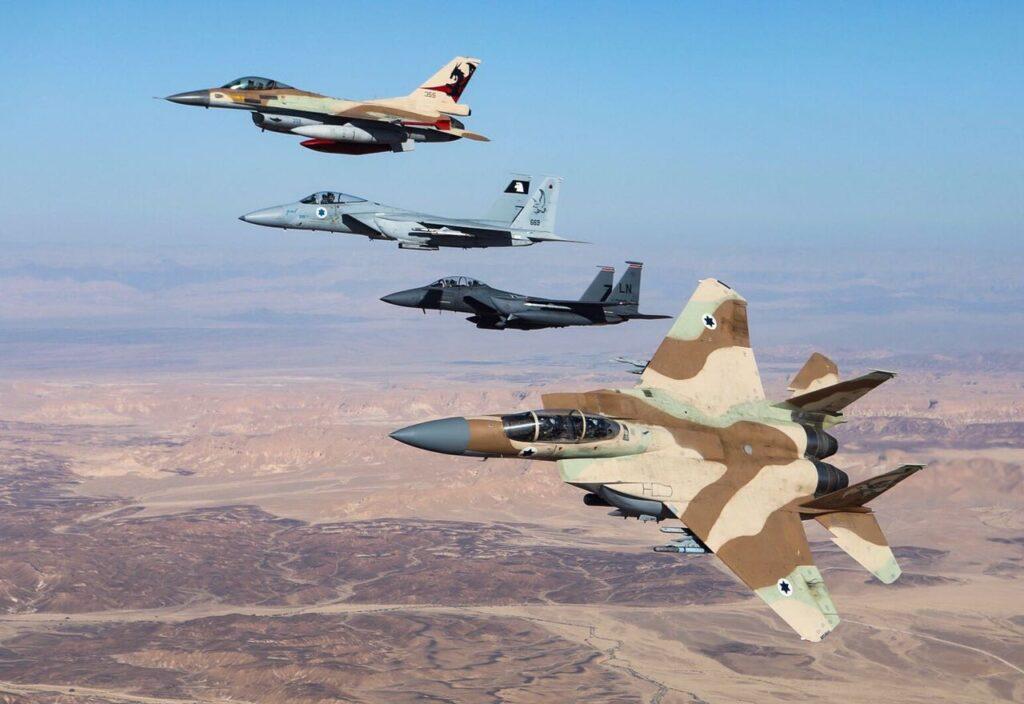 Izraeli harci gépek Németország felett