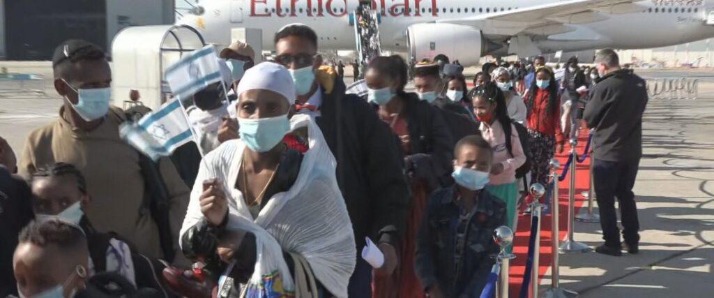 316 új bevándorló érkezett Etiópiából Izraelbe