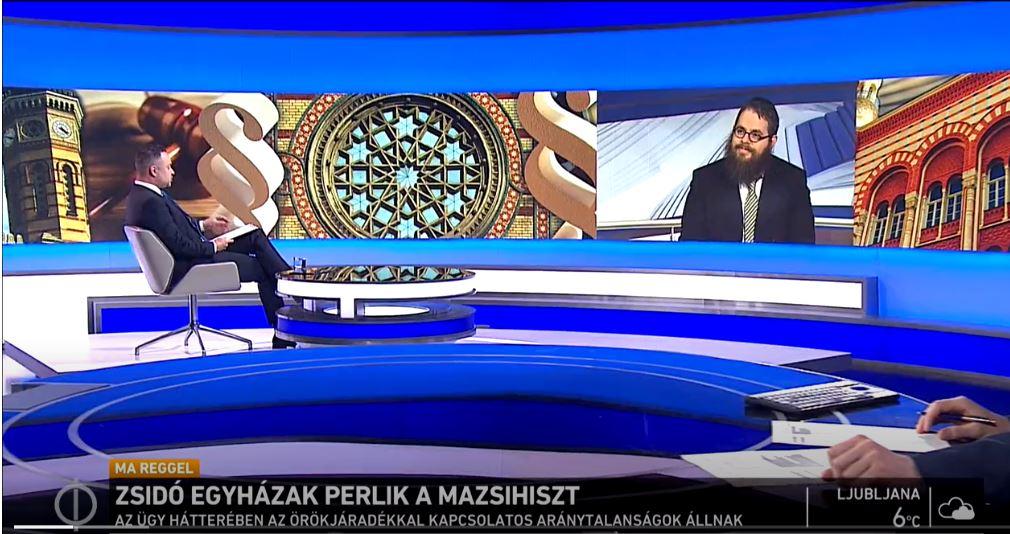 Köves Slomó az állami tévének: Senki nem kérte föl a Mazsihiszt az egész zsidóság képviseletére