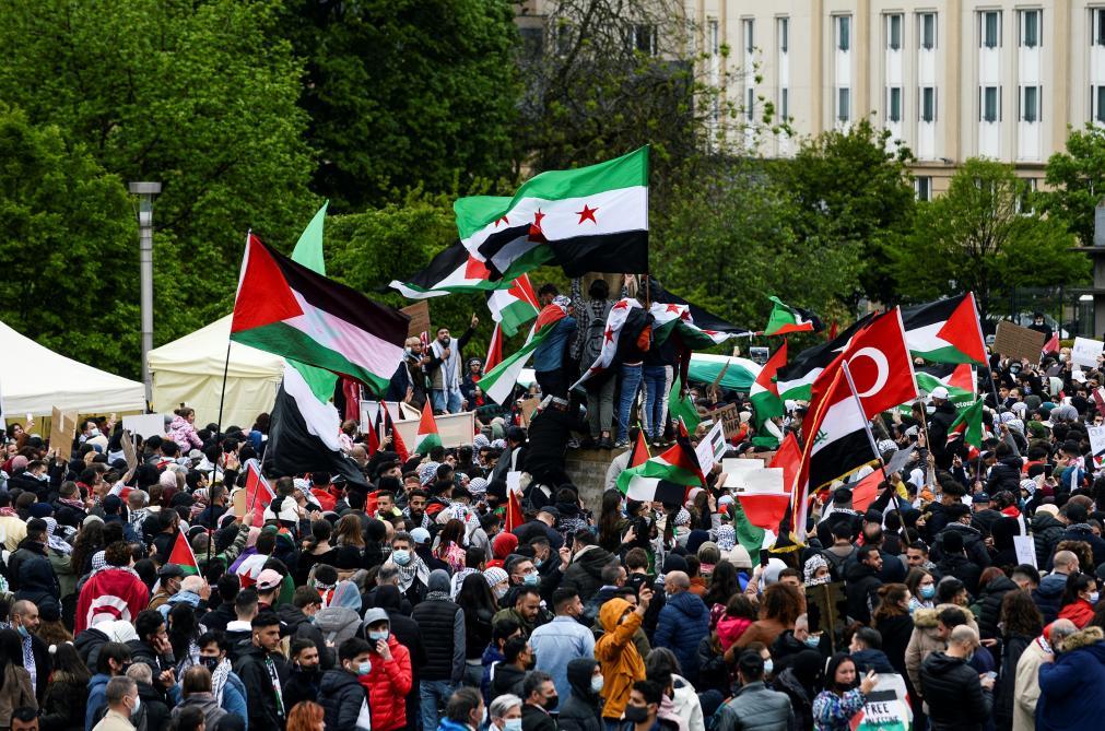Európai fővárosok: Antiszemitizmusba torkolló Izrael-ellenes tüntetések