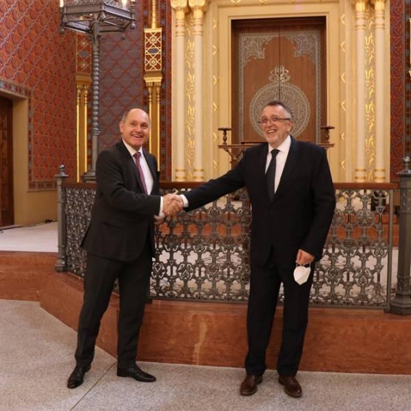 Az osztrák törvényhozás elnöke a Rumbach zsinagógában | Szombat Online