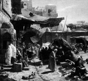 Jaffa út  festmény Gustav Bauerngfeind 1890.jpg
