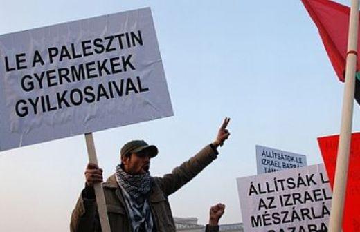palesztin szimpatizánsok tüntetnek.jpg
