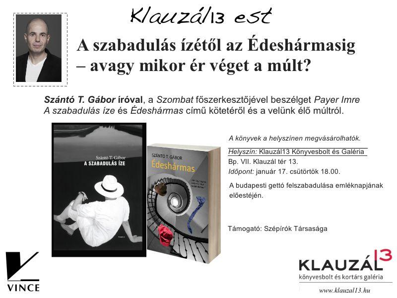 Klauzál13 est Szántó T. Gábor könyvbemutatója