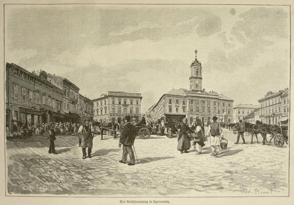 07_Czernowitz,_főtér 1890 körül