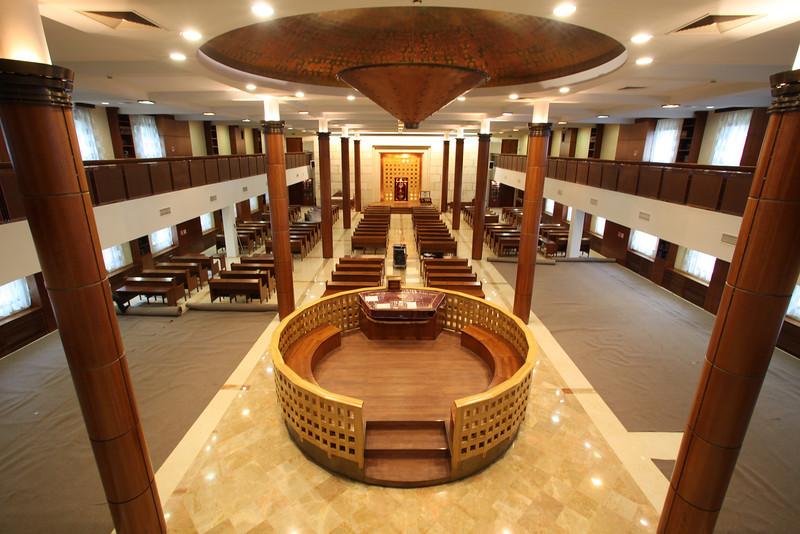 A Chabad által létesített moszkvai zsidó közösségi ház modern zsinagógája