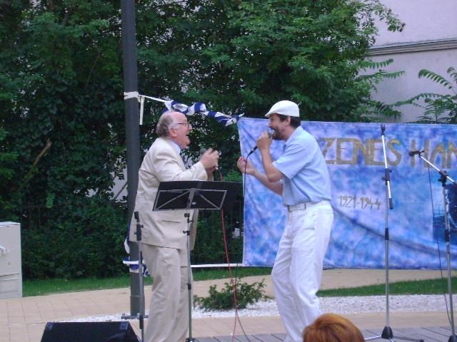 Geiger András és Masa Tamás táncdalénekes