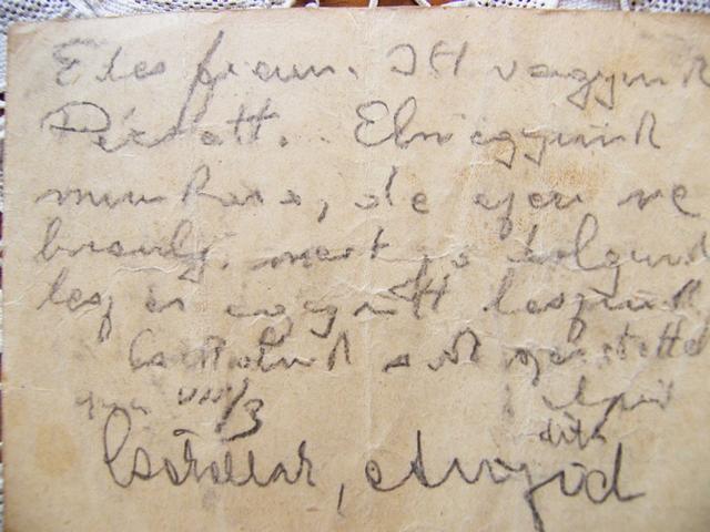 Vidor György apjának utolsó levele a gettóból