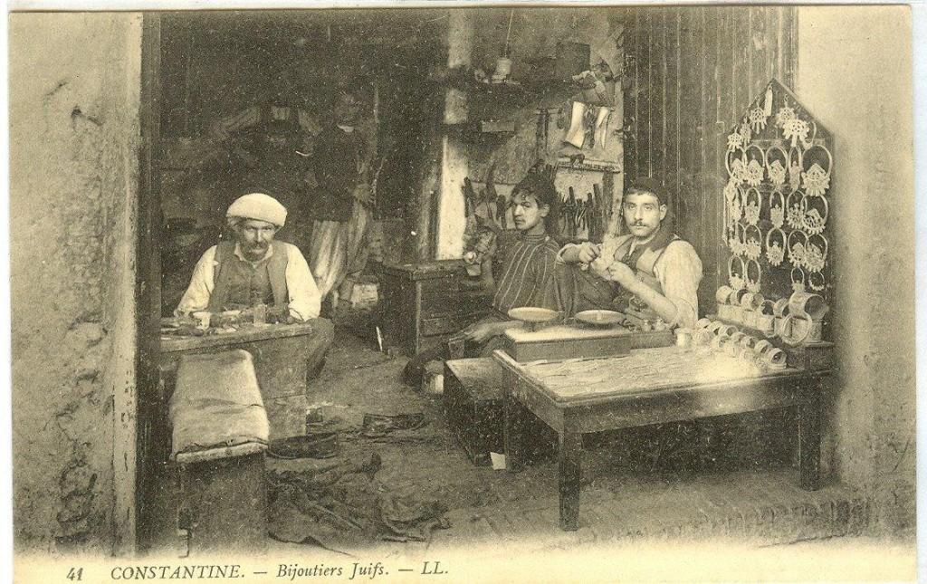 07 Algériai zsidó ékszerészek 1930 táján