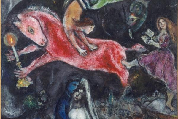 Marc Chagall A vörös ló (részlet)