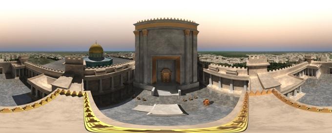 2 - A Harmadik Templom  - fantáziarajz