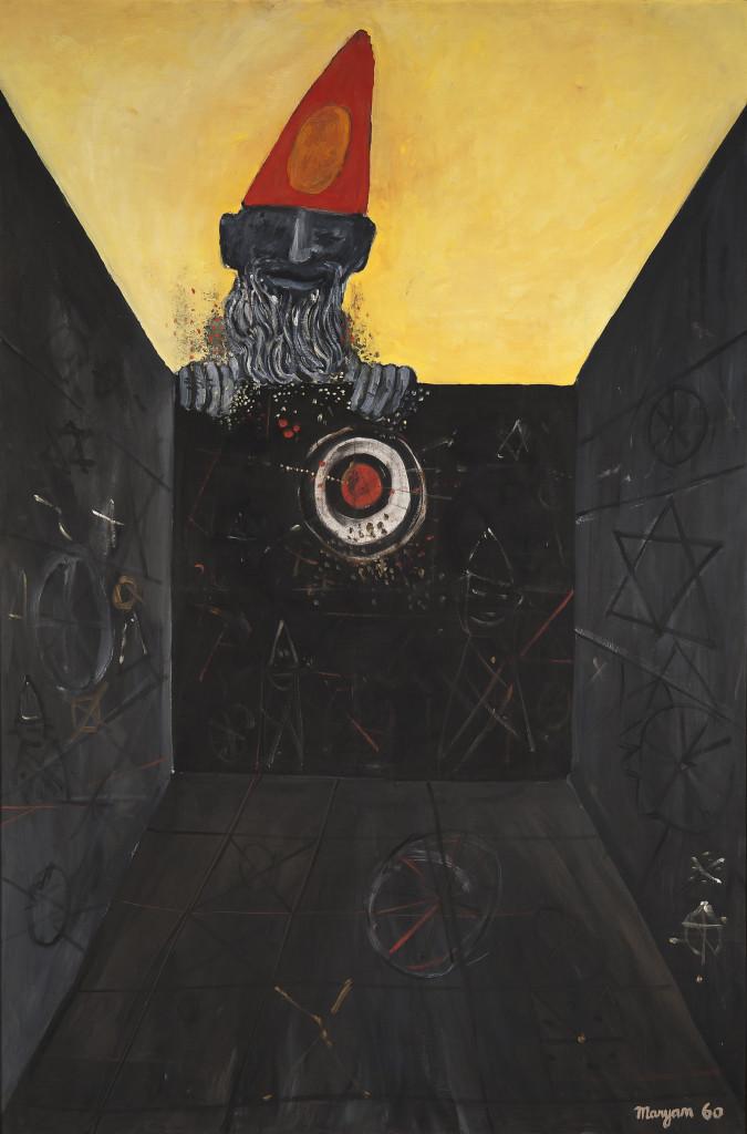 Figures de l'enfermement, 1960, huile sur toile