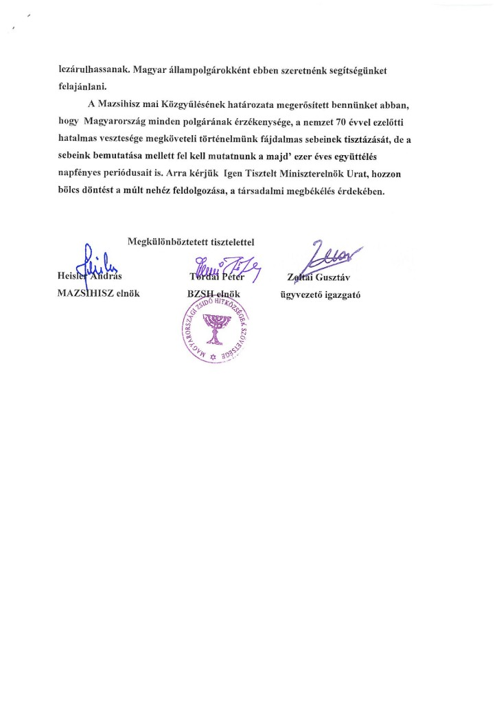 A MAZSIHISZ levele-page-003