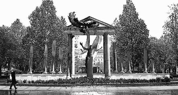 német megszállási emlékmű terve