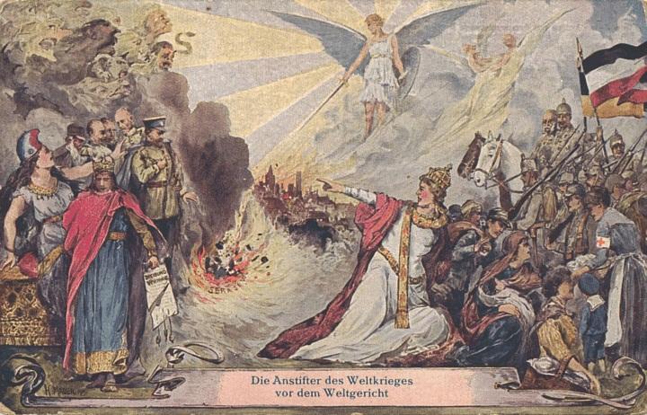 5 - 'Végítélet' feliratú propaganda képeslap