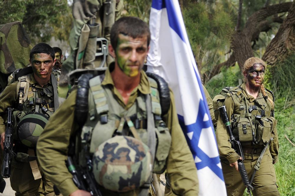 izraeli katonák gyakorlaton fotó Europess AP