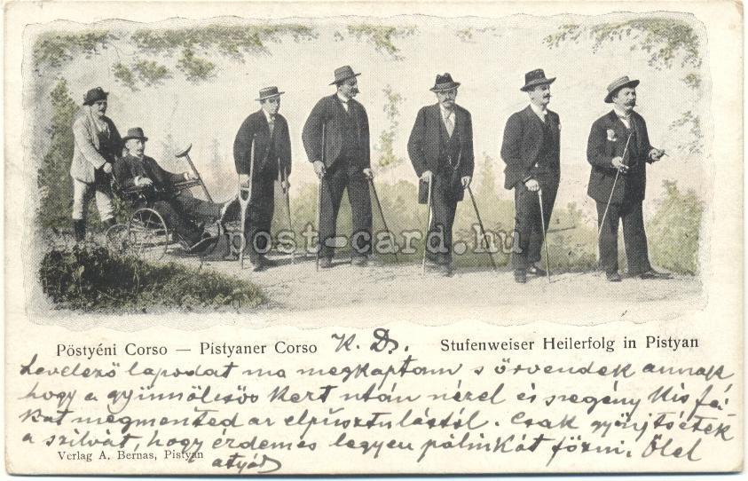 6 - Pöstyéni képeslap a századforduló idejéből