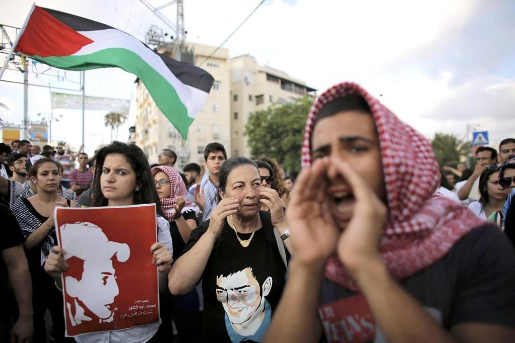 Tüntető izraeli arab fiatalok fotó Ammar Awad Reuters