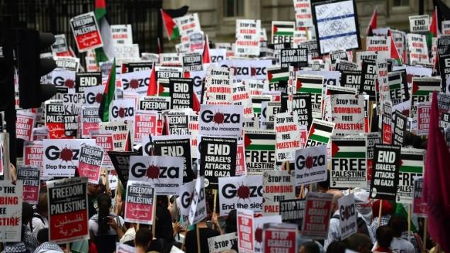 Gáza tünt London