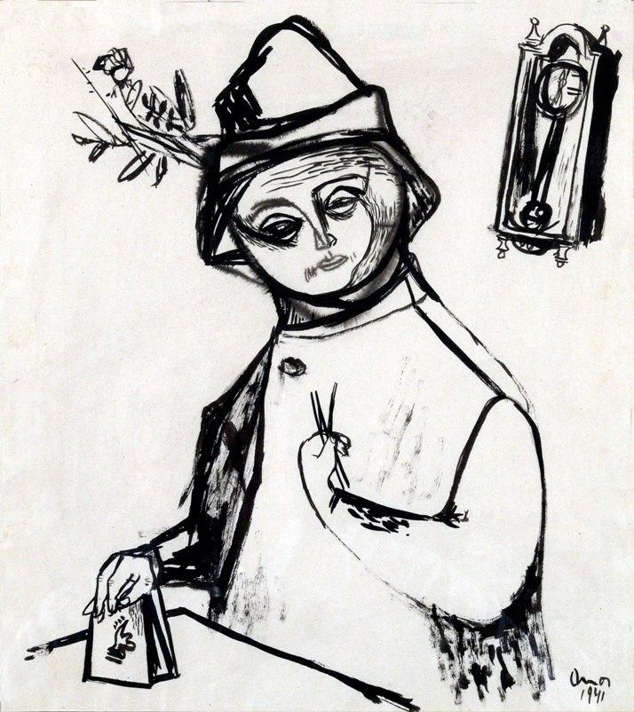 Ámos Önarckép 1941