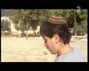 Jeruzsálem Shahar Glick a Templom-hegyen (Channel 2, forrás timesofisrael.com)