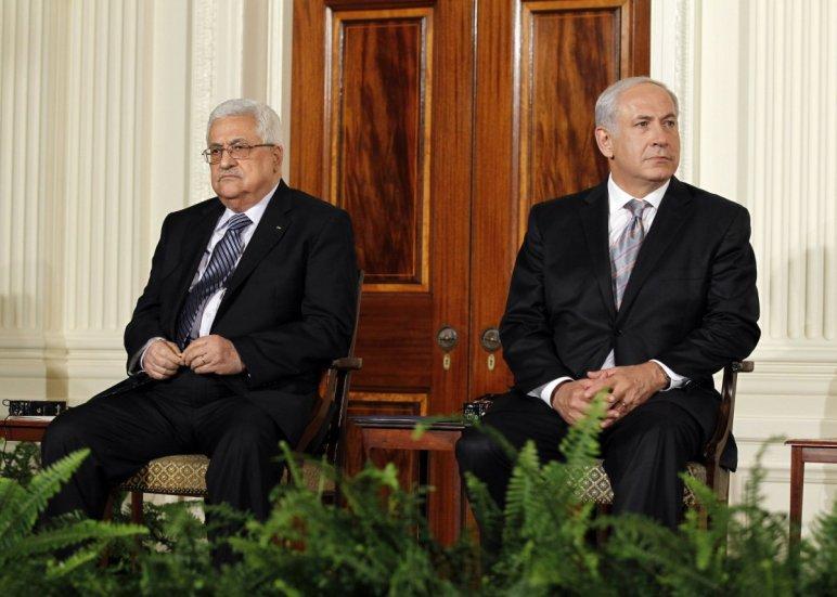 Mahmúd Abbász és Benjámin Netanjahu