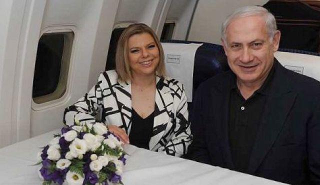 Sarah Netanyahu férjével (Fotó haaretz.com)