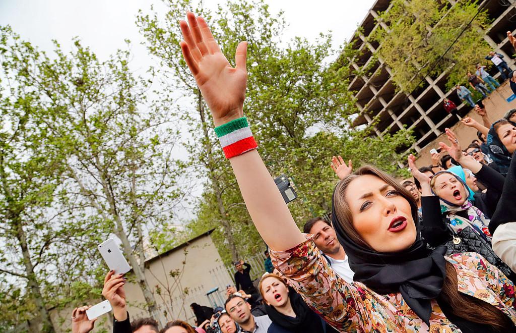 Protest outside the Saudi Arabia embassy in Tehran