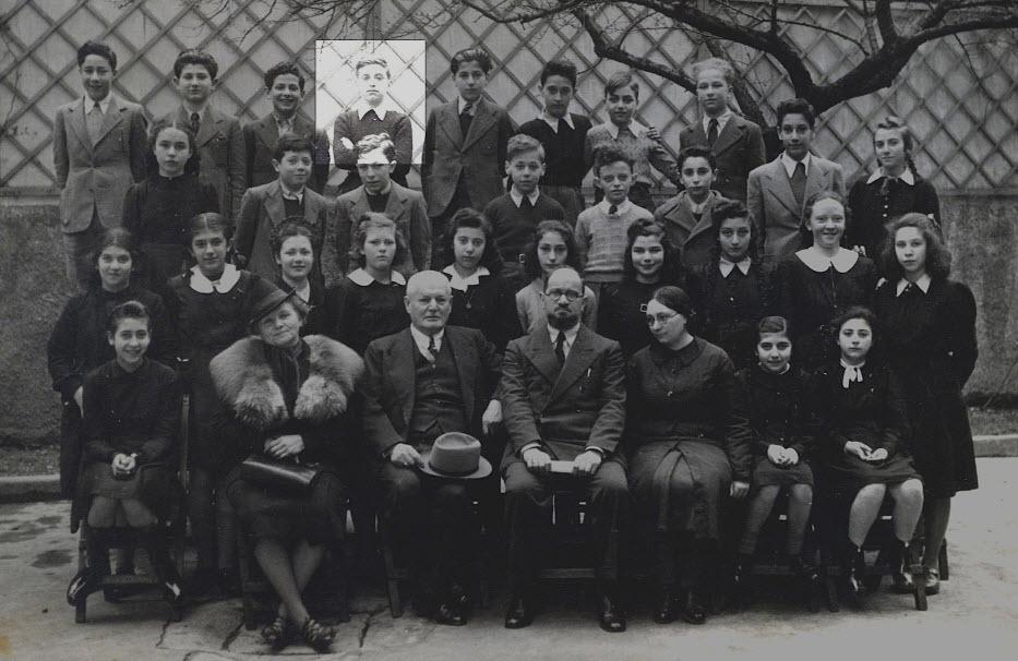 Zsidó iskola növendékei a háború előtt