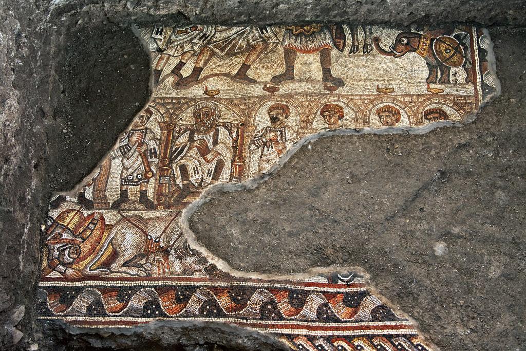Huqoq elephant mosaic.