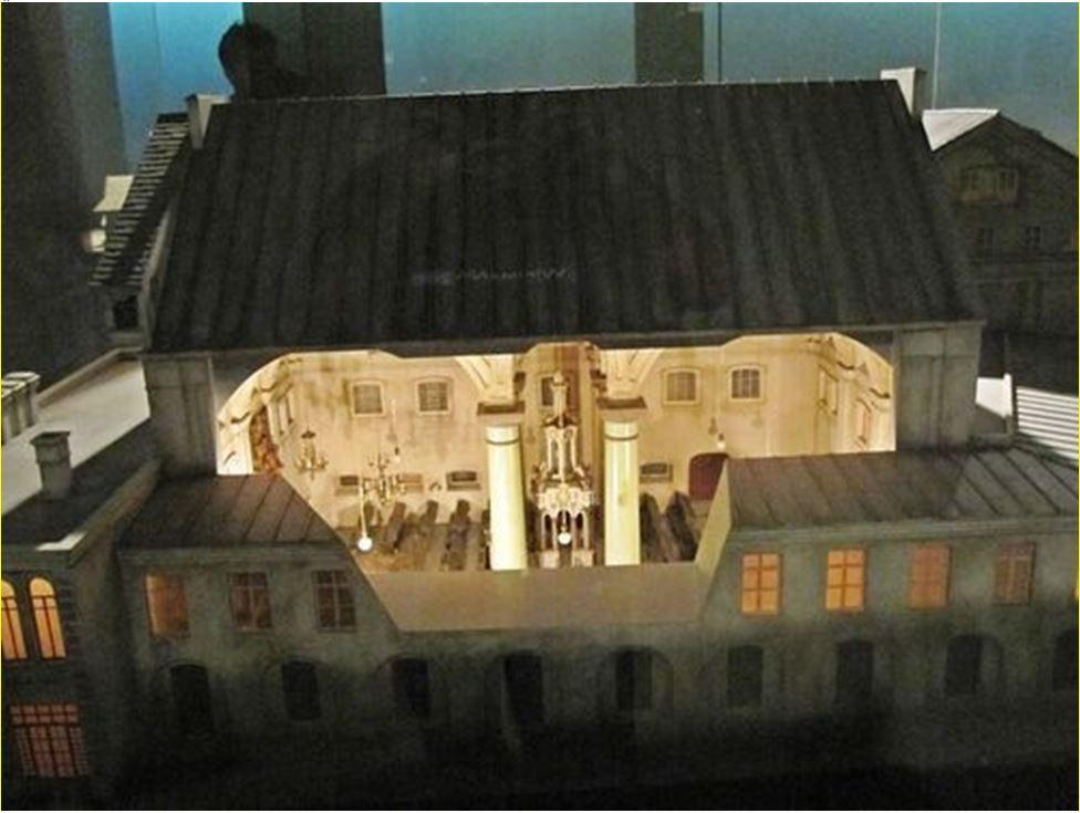 A zsinagóga makettje