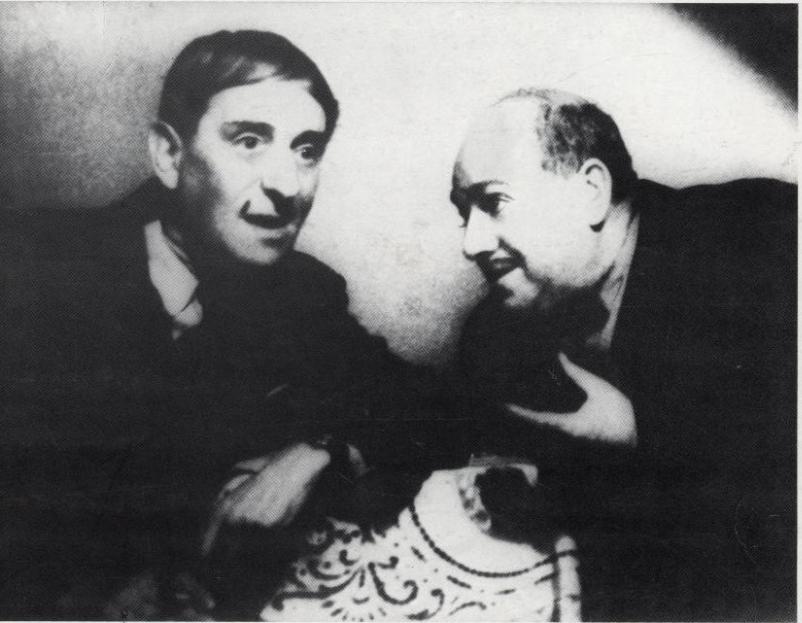 7 - Hacsek és Sajó eredeti megszemélyesítői Herczeg Jenő és Komlós Vilmos